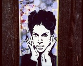 Prince Graffiti Painting on Canvas Pop Art Style Original Artwork Stencil Urban Home Decor Purple Rain