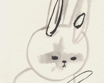 art print, bunny print, hi, hi bunny