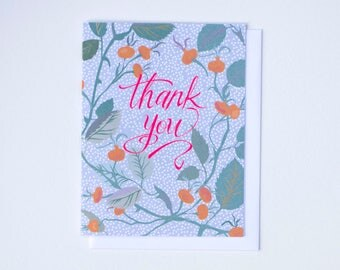 Rose Hip Thank You Card