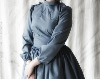 Gloomth Victorian Nurse Dress Grey Size Small IN STOCK