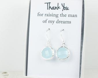 Blue Opal Silver Earrings, Blue Sea Opal Earrings, Blue Wedding Jewelry, Bridesmaid Earrings, Wedding Accessories, Bridal Earrings