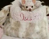 Dog Carrier Purse - Pet Carrier Purse - Dog Tote - Faux Fur - Luxury Faux Fur
