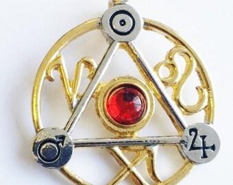 Elemental Fire Magickal Talisman-magickal jewelry,pagan and wiccan gifts,Strega Luna,esoteric jewelry, magical pendulum talisman
