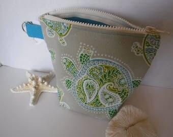 Turtle Water Repellent Fabrics Cosmetics Bag