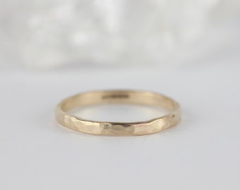 hammered gold wedding ring wedding bands women gold stacking rings skinny 9ct - Ring For Wedding