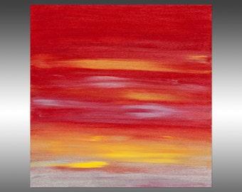 Sunset 54 - Abstract Landscape Painting, Original Modern Art Painting, Abstract Canvas Wall Art, Sunrise Sunset