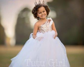 Flower Girl Dress, Rose Gold Flower Girl Dress, Flower Girl Dresses