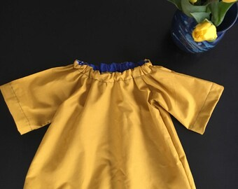 AnaisKids Mustard and Indigo Dress with Bloomers