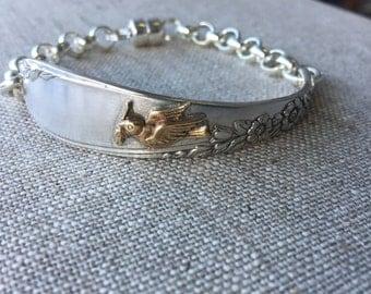Peace Dove Spoon Handle Bracelet