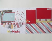 It's Magic 12x12 Scrapbook Layout, Scrapbook Page, Scrapbook Mini Album, Pre-Made Pages, Pre-Made Albums