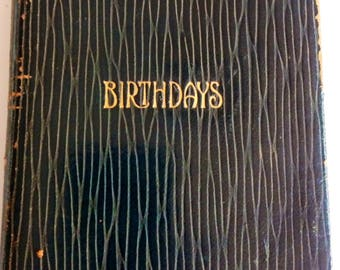 Vintage 1920's Birthdays Book