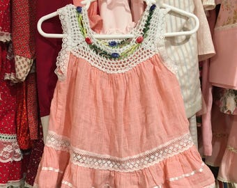 Pretty Hippie Dress 9/12 Months