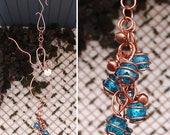 SPRING SALE Glass & Copper Wind Chimes / Gypsy Windchime Garden Art Suncatcher Yard/Lawn/Outdoor Decor