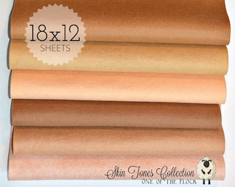 Skin Tones Felt Collection, Wool Blend Felt, Wool Felt Sheets, Wool Felt Fabric, Felt Fabric Bundle, Wool Felt Bundles, Felt Collections