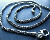Sterling Silver Popcorn Chain 18 inches