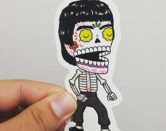 Bruce Lee Calavera Die Cut Vinyl Sticker