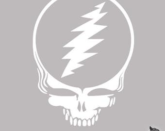 Grateful Dead Sticker Steal Your Face Skull Vinyl Decal for Wall or Vehicles Graphics