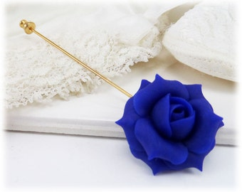 Rose Brooch or Stick Pin - Rose Jewelry