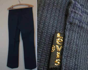 Dark Blue Sta Prest Levis Vintage 517 Levis Boot cut 70s Flare Vintage whipcord jeans Flared Jeans cotton US made Levis Jeans 32 29