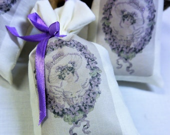 French Lavender Sachet - Lavender Lady - Bridesmaid Gift  - Wedding