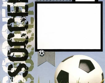 12x12 Premade Soccer Scrapbook Page