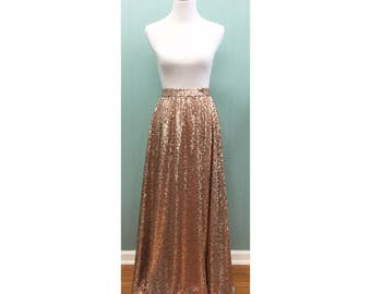 Sequin Maxi Skirt - Lily