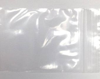 """Clear Zip Bag - 2"""" x 3"""" - 100 count - 2 mil - Poly - Zipper Closure - Jewelry Craft Bags Bulk - Recloseable - 2 inch by 3 inch - 100 pieces"""