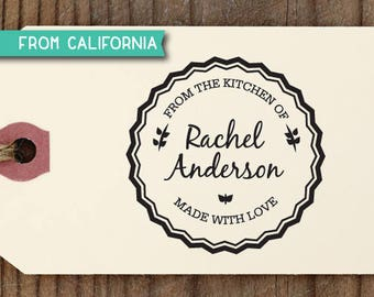 From the Kitchen of Stamp, Traditional Rubber Stamp OR Pre-Inked Stamp, Personalized Baking Gift, Kitchen Stamp, Gift for Mom, KitchenStamp2