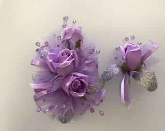 SALE Lavender Corsage Set