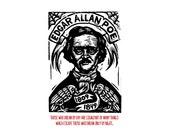 Edgar Alan Poe Portrait Quote Postcard