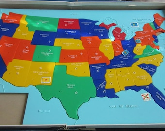usa map with info  united states of america