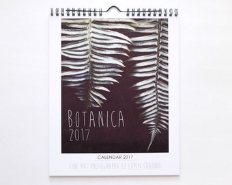 "2017 Wall Calendar | Botanical Photography | Stocking Stuffer | 8x10 Calendar ""Botanaica"""