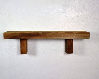 "Wall shelf reclaimed barnwood 20"" x 5"" x 5.5"" great for a rustic kitchen"