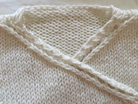 Kimono Scarf Knitting Pattern : Baby kimono jacket - Baby Wrap Cardigan - PDF knitting pattern - 6-9 months -...