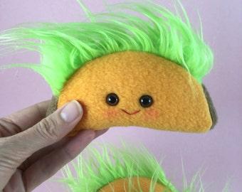 Plush Taco Toy on a Key Chain