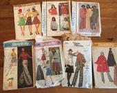 Lot Vintage Patterns 1970s patterns  range of sizes Womens suits dresses tops