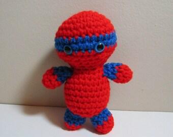 Crochet Superhero Doll. Plush Amigurumi Doll. Toy Superhero Character Doll. Kawaii Plush Doll. Soft Toy Doll. Gift for Kids. Birthday Gift