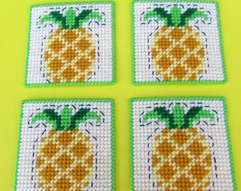 Pineapple Beverage Coasters. Pineapple Drink Coasters. Pineapple Mug Rugs. Tabletop Coasters. Hostess Gift. Housewarming Gift. Home Decor
