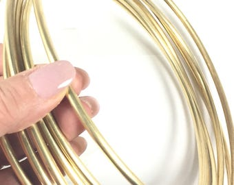 Round wire, 6 gauge Red Brass Wire, 10 ft.,  great for cuffs, tribal bracelet, gold bangles