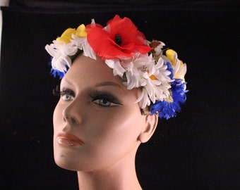 Vintage Bright Colorful Millinery Flowers Ladies' Fascinator Hat