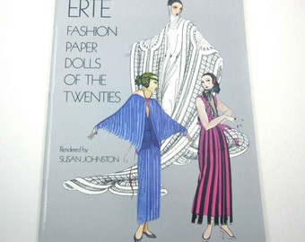 Erte Fashion Paper Dolls of the Twenties Vintage 1970s Dover Paper Doll Book by Susan Johnston