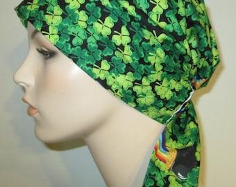 St Patrick's Day  Chemo Scarf, Hat, Cancer Hat, Hijab, Alopecia Turban