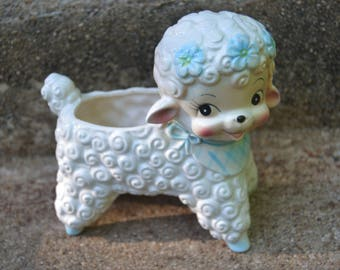 Vintage 50s Kitsch Ardco Lamb Planter Baby Shower