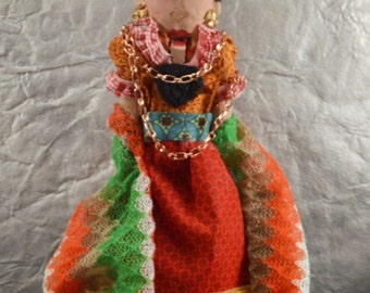 "Frida Kahlo Unique Nutcracker 10"" Size Latino Art One of a Kind Nutcrackers"