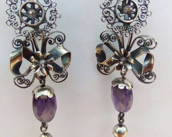 Frida style earrings with filigree