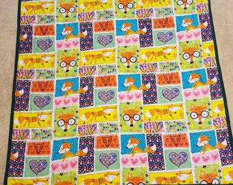 Foxy Flannel Baby Quilt