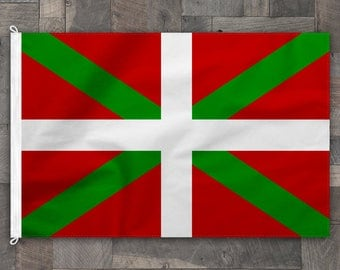 100% Cotton, Stitched Design, Basque Flag, Made in USA