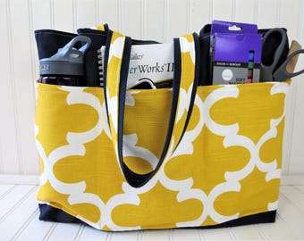 Teacher Bag With Pockets - Teacher Bags -Teacher Tote Bags - Teacher Tote - Teacher Bag - Gifts for Teachers- Teacher Bag Canvas
