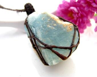 Aquamarine crystal,  Aquamarine pendant, Throat Chakra,  Aquamarine necklace , Healing crystals and stones