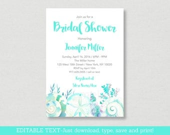 Beach bridal shower Etsy